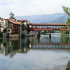 Bassano del Grappa:  old wooden bridge