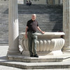 Monte Cassino: Ted at the fountain