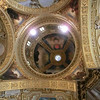 Monte Cassino:  Interior of church; architecture is reconstructed Baroque, but ceiling paintings are modern