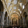 Monte Cassino:  Interior of church (reconstructed in original Baroque style)