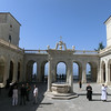 Monte Cassino:  Interior courtyard, with view over the valley