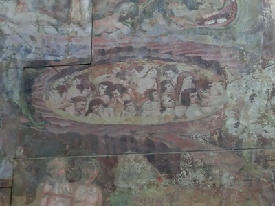 Campo Santo:  14th C frescoes (detail -- the suffering of the damned)