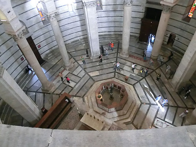 Baptistry:  View of interior from upper gallery