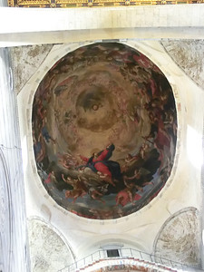 Duomo:  Cupola painting of the Assumption of Mary by Rinaldi