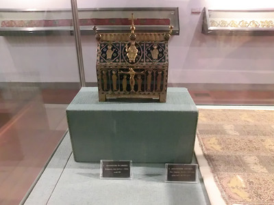 Duomo Museum:  Limoges reliquary, given by Richard the Lionheart to the city of Pisa in return for the help of the Pisan bowmen in the 3rd Crusade
