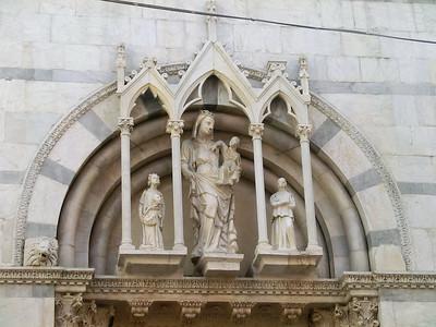 San Michele in Borgo:  detail of exterior facade