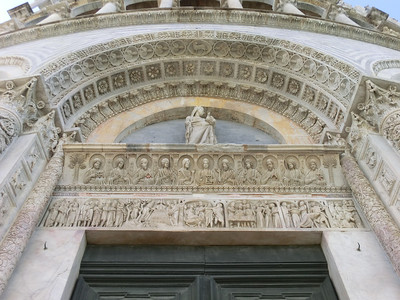 Baptistry:  Detail of exterior decoration
