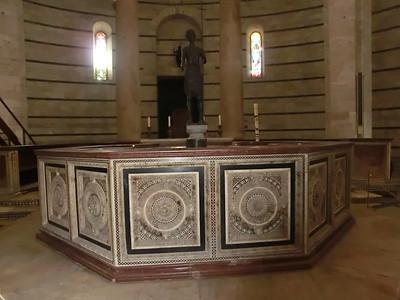 Baptistry:  Baptismal Font, Guido Bigarelli da Como (13th C)