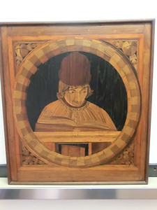 Duomo Museum, portrait in inlaid wood
