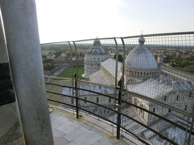 Leaning Tower:  view from the top