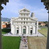 View of Duomo from window of upper gallery of Baptistry; you can see that the Baptistry is a little crooked too