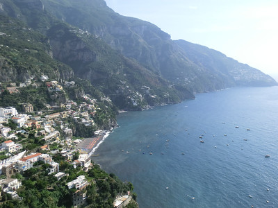 View of Positano from the Belvedere, top of the hill
