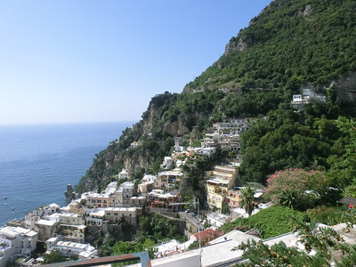 View of Positano on the way down from the Belvedere