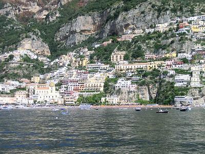 First glimpse of Positano