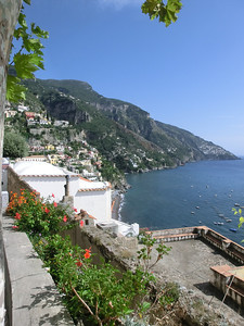 View of Positano from the staircase connecting the harbor to our hotel (about 300 stairs, halfway up the mountain)