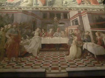 St. Stephen's Cathedral:  Fresco, Herod's Banquet, Filippo Lippi (15th C)