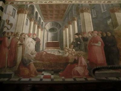 St. Stephen's Cathedral:  Fresco, Funeral of St. Stephen, Filippo Lippi (15th C)