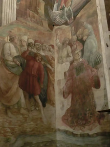 St. Stephen's Cathedral:  Fresco, Martyrdom of St. Stephen, Filippo Lippi (15th C)