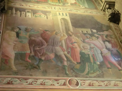 St. Stephen's Cathedral:  Fresco, Martyrdom of St. Stephen, Paolo Uccello and Andrea di Giusto (15th C)
