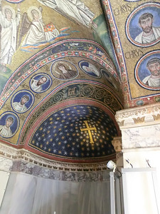 Mosaics in Chapel of St. Andrew (5th C); now part of Episcopal Museum