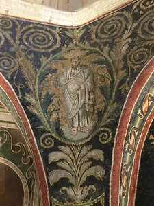 Neonian Baptistery:  Mosaic of a prophet