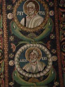 Basilica of San Vitale:  Mosaics of Sts. Peter and Andrew