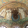 Basilica of San Vitale:  Mosaic of Christ with angels  (6th C)
