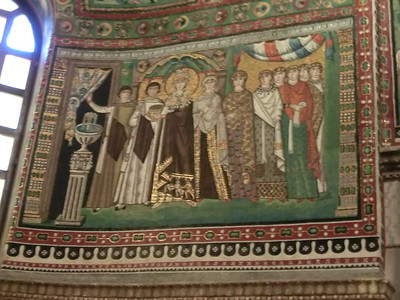Basilica of San Vitale:  Mosaic of Empress Theodora and courtiers