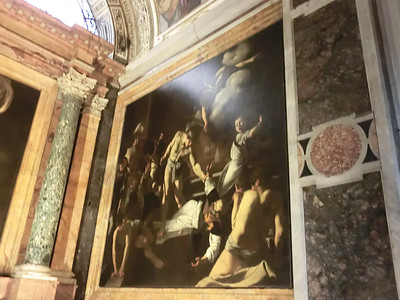 Church of San Luigi dei Francesi, the Martyrdom of St. Matthew, Caravaggio (1600)