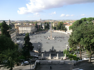 Palazzo del Popolo, from the Pincio overlook