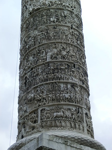 Detail of Column of Marcus Aurelius, depicting the Emperor's military victories