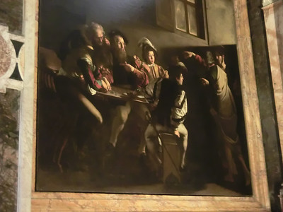 Church of San Luigi dei Francesi, The Calling of St. Matthew, Caravaggio (1600)
