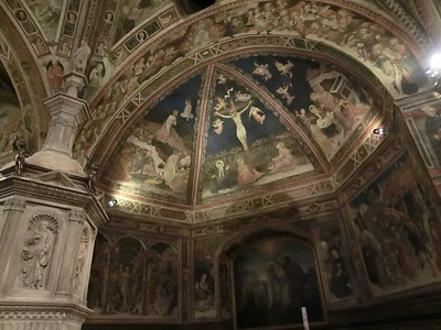 Baptistry, Frescoes by Vecchietta and others (15th C)