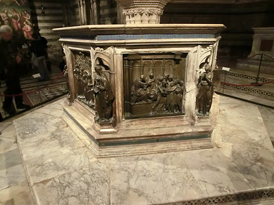 Baptistry of San Giovanni, Baptismal  Font (15th C)