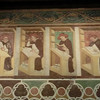 Frescoes of working monks, Tommaso da Modena, refectory, church of San Nicolo