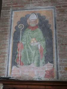 Fresco of St. Nicholas of Bari, church of San Nicolo