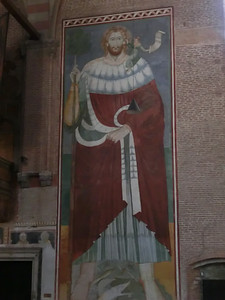 Fresco of St. Christopher, church of San Nicolo