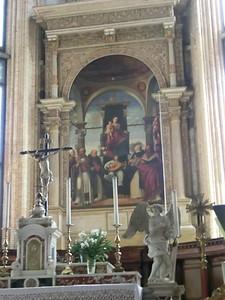 Madonna by Lorenzo Lotto, church of S. Nicolo