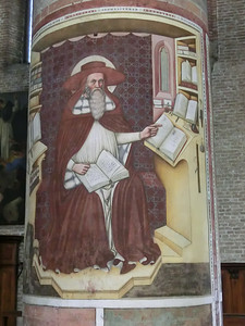 Fresco of Saint Jerome, church of San Nicolo