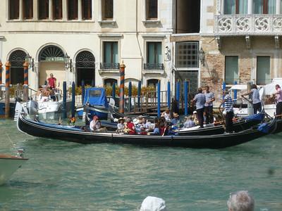 Tour group enjoying a gondola ride