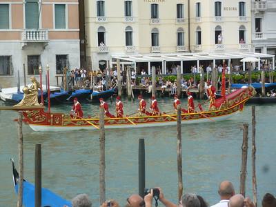 Historic boats  -- this might be a replica of Caterina Cornaro's boat