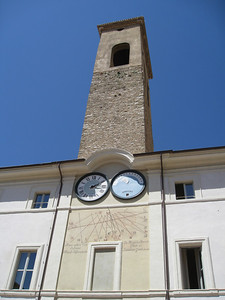 Interesting tower and sundial