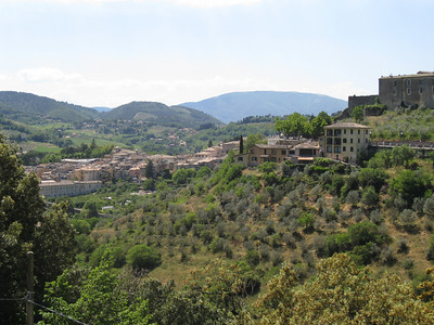 Spoleto countryside and town