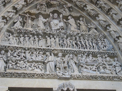 Amiens cathedral: facade - the last judgment