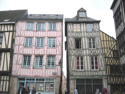 Rouen: half-timbered houses