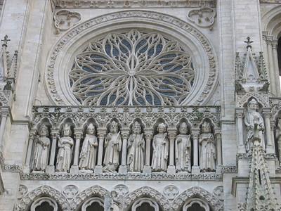Amiens cathedral: facade detail