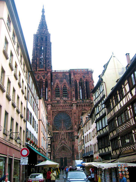 approach to Strasbourg Cathedral