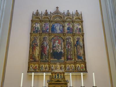 Duomo di Sant'Emidio -- Madonna and Saints by Crivelli