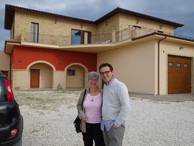 Linda with Paolo Capriotti, Podere San Lazzaro