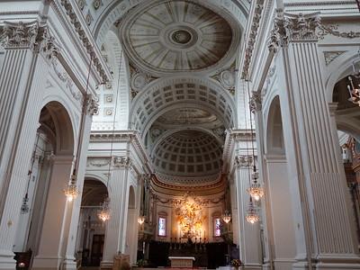 "Cathedral interior; note ""trompe l'oeil"" domes (optical illusions)"